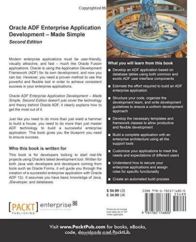 Oracle ADF Enterprise Application Development