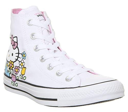 Converse Chuck Taylor All Star Hello Kitty Hi WeißRosa Segeltuch Erwachsene Trainer Schuhe