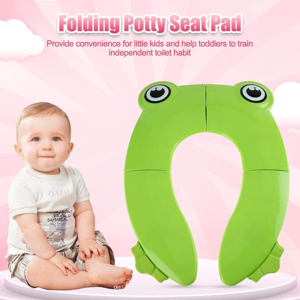 #1 Kids Folding Potty Seat Pad Travel Baby Toddler Toilet Training Cover Cushion Fit for Most Toilet Portable Potty Seat on Toilet