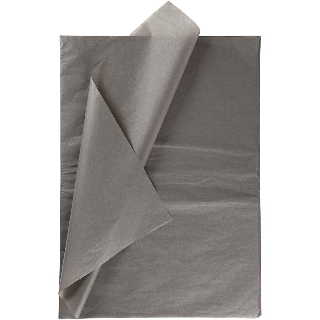 Carta velina, foglio 50x70 cm, 14 g, grigio, 25fogli Creativ Company
