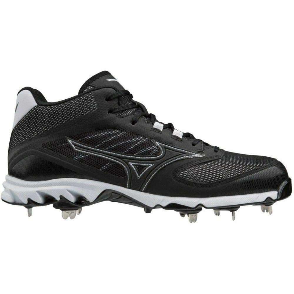 (ミズノ) Mizuno メンズ 野球 シューズ靴 Mizuno 9-Spike Dominant IC Mid Metal Baseball Cleats [並行輸入品] B07HMYMHZ1   12.0-Medium