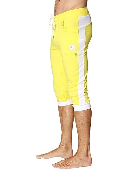 1ba69896cc536 4-rth Men's Transition Cuffed Yoga Pant (X-Small, Yellow w/White ...
