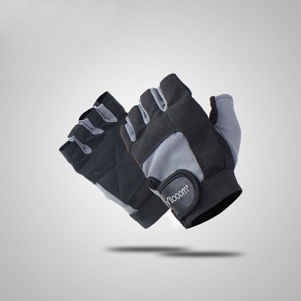 yilooom半指手袋保護用指なし練習用手袋Work Outダンベルサイクリングバイクハイキングスポーツ B072XMKY25 Medium