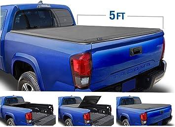 Amazon Com Tyger Auto Black Soft Top T3 Tri Fold Truck Tonneau