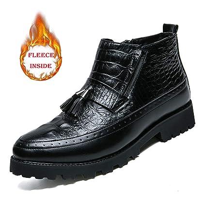 Botas para hombre 2018 Botines elegantes elegantes casuales de los hombres que cosen zapatos formales con
