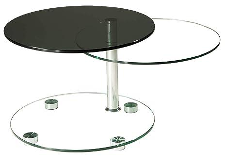Stegert Design Table Basse Avec Plateau En Verre De 12 Mm Et