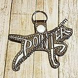 German Shorthair Pointer Breed Keychain, Key fob,