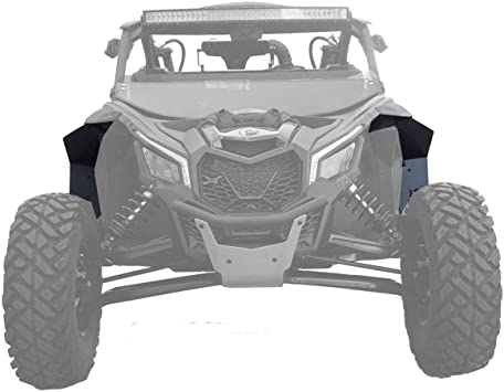MudBusters Fender Extensions for BRP Can-AM Maverick X3 Fenders Full Set Short Front Fenders