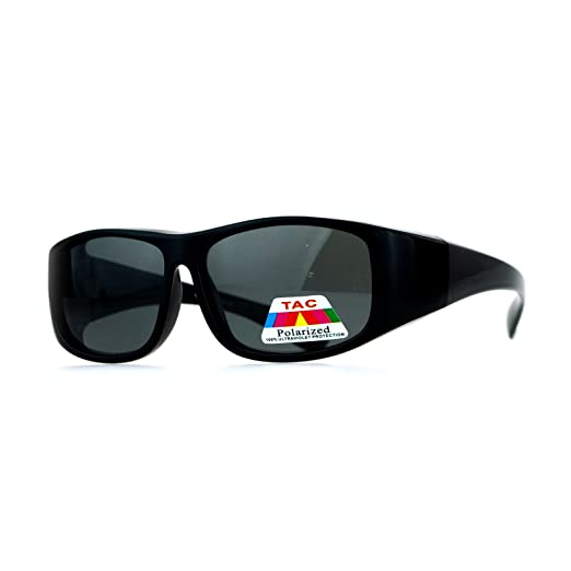 2de38e1bea Kid s Polarized Lens Fitover Sunglasses Rectangular OTG for Boys Girls -  Black