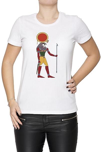 Egipcio Dios Real Academia De Bellas Artes Mujer Camiseta Cuello Redondo Blanco Manga Corta Tamaño S