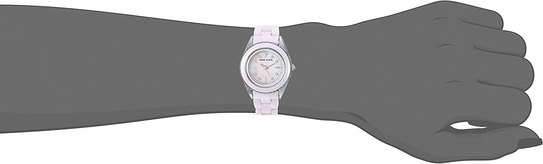 Anne Klein Women's Swarovski Crystal Accented Ceramic Bracelet Watch Light Pink/Silver