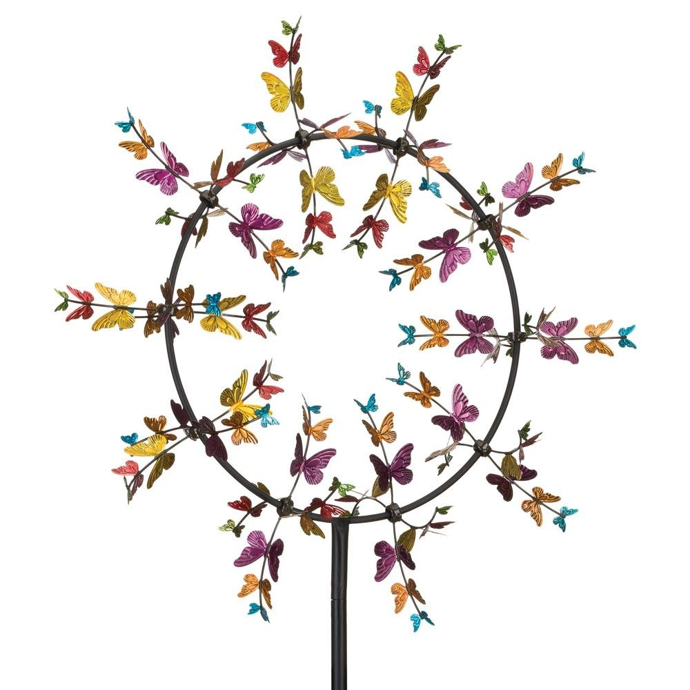 Regal Art & Gift Vortex Kinetic 32 inches x 8.75 inches x 91 inches Metal Stake - Butterfly Garden Stakes
