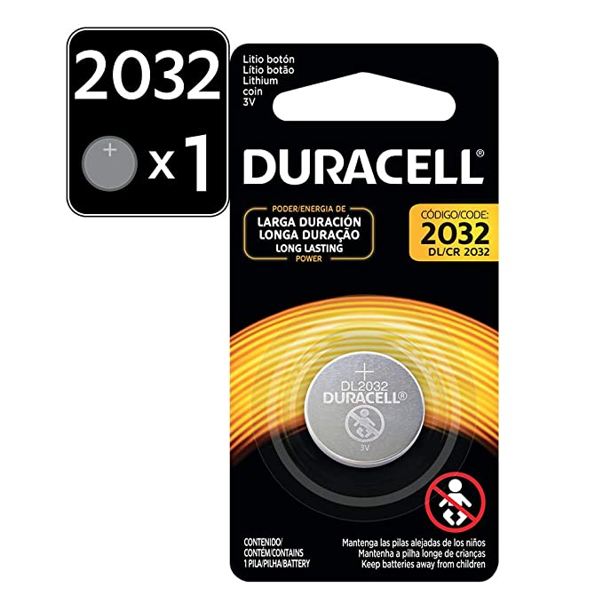Duracell CR2032 3V Lithium Button Battery at amazon