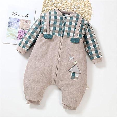 CaoQuanBaiHuoDian Mantas para bebés Saco De Dormir del Bebé Manga Larga A Cuadros De Algodón Piernas