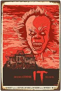 CCparton Stephen King It Classic Horror Film Movie Vintage Retro Tin Sign Metal Signs Pub, Home Dec