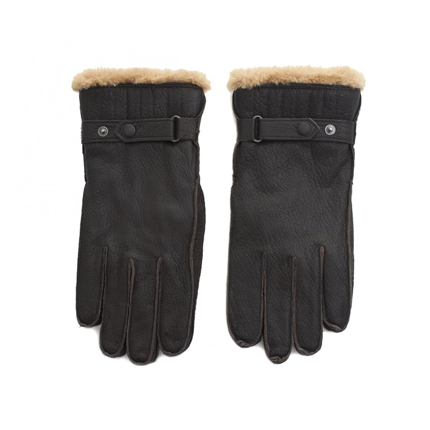 Barbour black leather utility gloves - Barbour Black Leather Utility Gloves 25