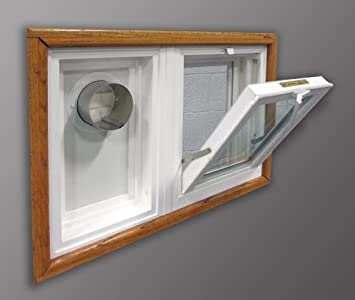 Amazon Com Dryer Vent And Hopper Window 32 W X 14 H Right Side Vent Home Improvement