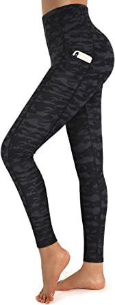 Promover Yoga Pants for Women High Waist Leggings with Pockets Tummy Control 4 Way Stretch Yoga Leggings Workout Pants