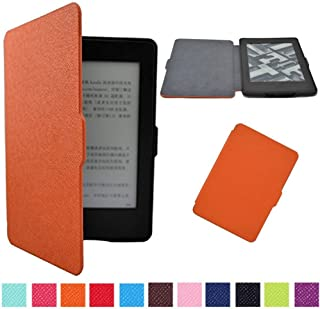 Daorier Kindle Paperwhite 1/2/3 PU Leather Non-slip Case + Hard Case Protective Cover Leather Case Stand Cover with Sleep/Wake Smart Cover Function blue blue one size