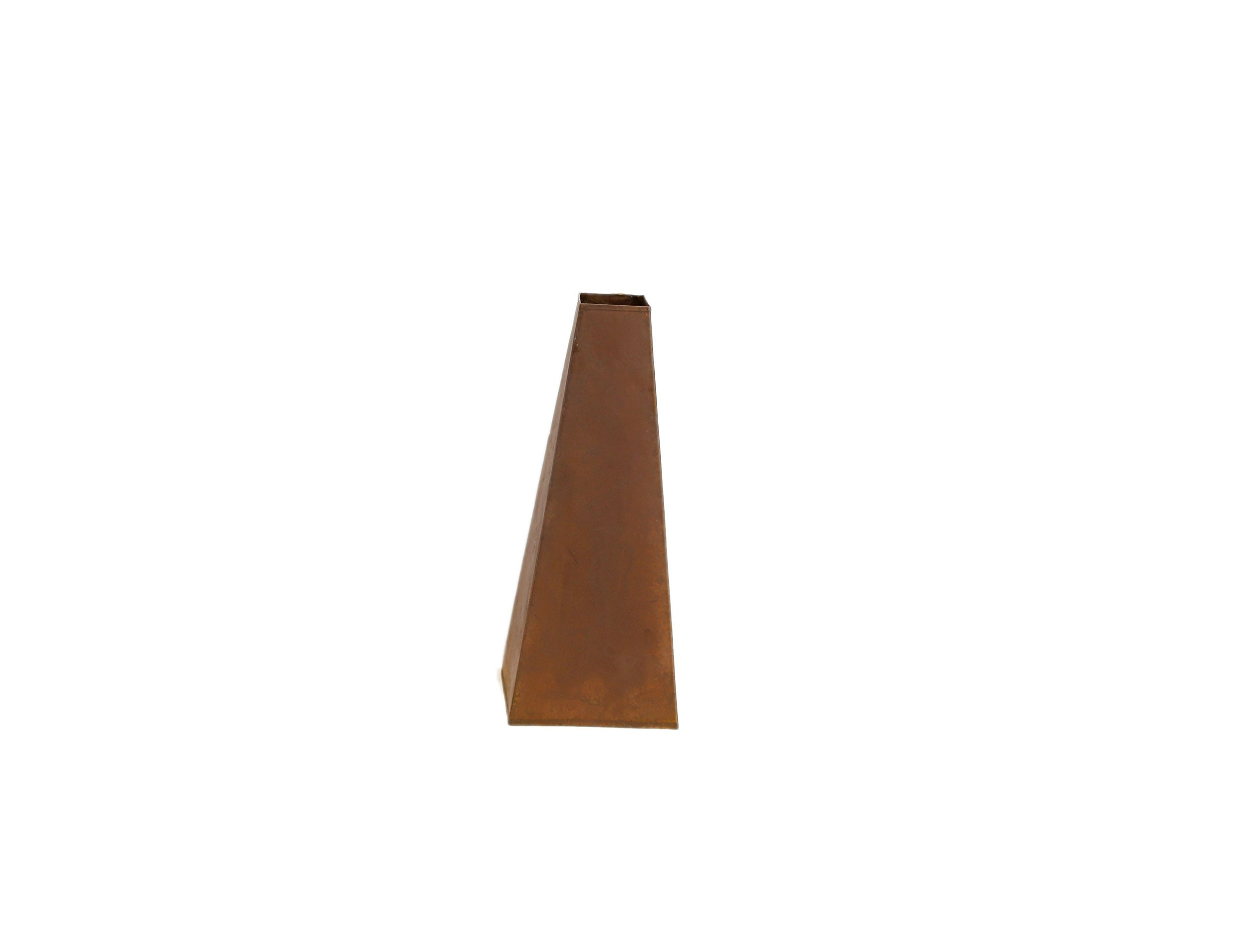 Small Rusty Tapered Vase