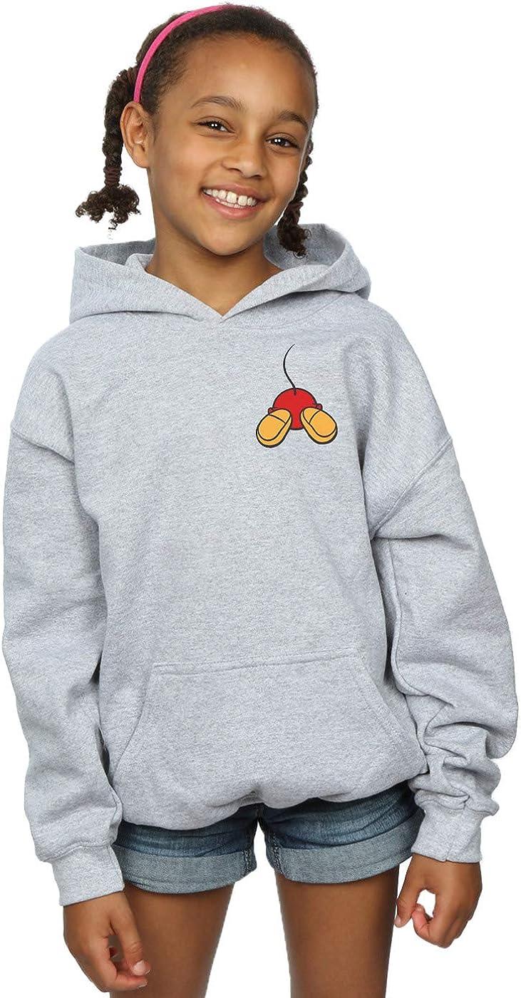 Disney Girls Mickey Mouse Backside Breast Print Hoodie