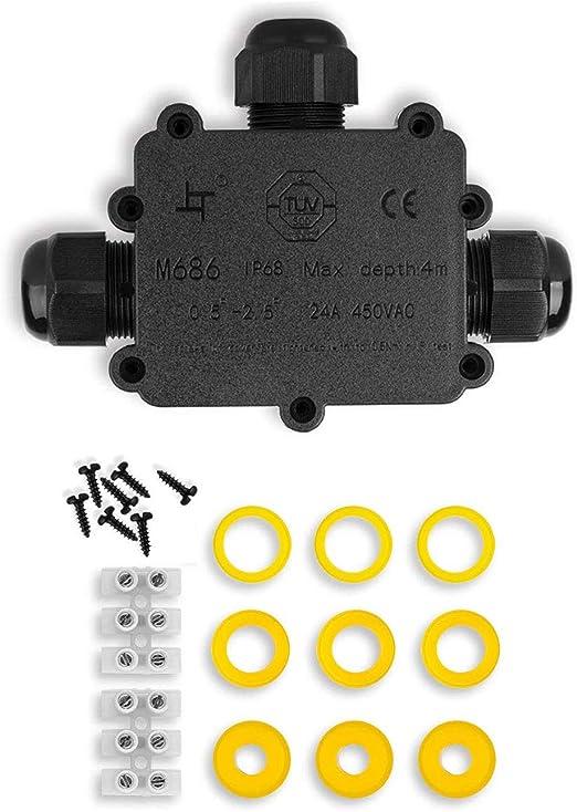 Caja de Conexiones, Eléctricos Exterior Conector Cable,IP68 ...