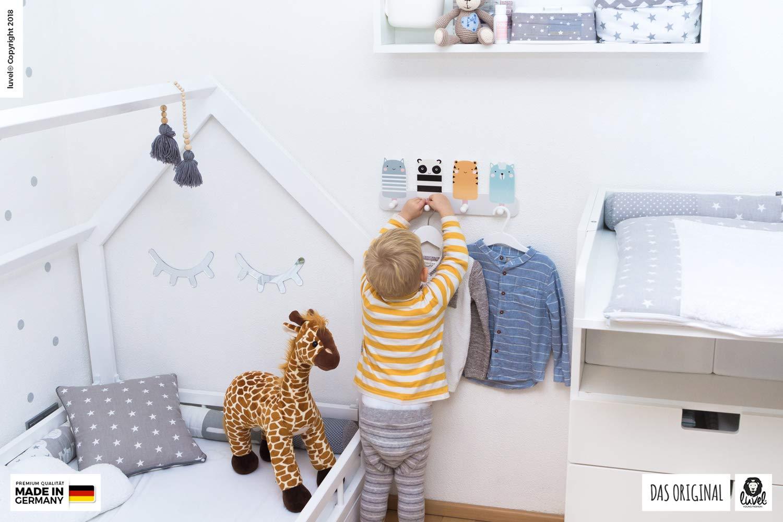 Schwan Kindergarderobe mit 4 Haken Garderobenhaken G8 Schwan Ma/ße ca.: 40 x 15 x 1 cm Kleiderhaken Wandgarderobe Kinderm/öbel Kinderzimmer Wandhaken