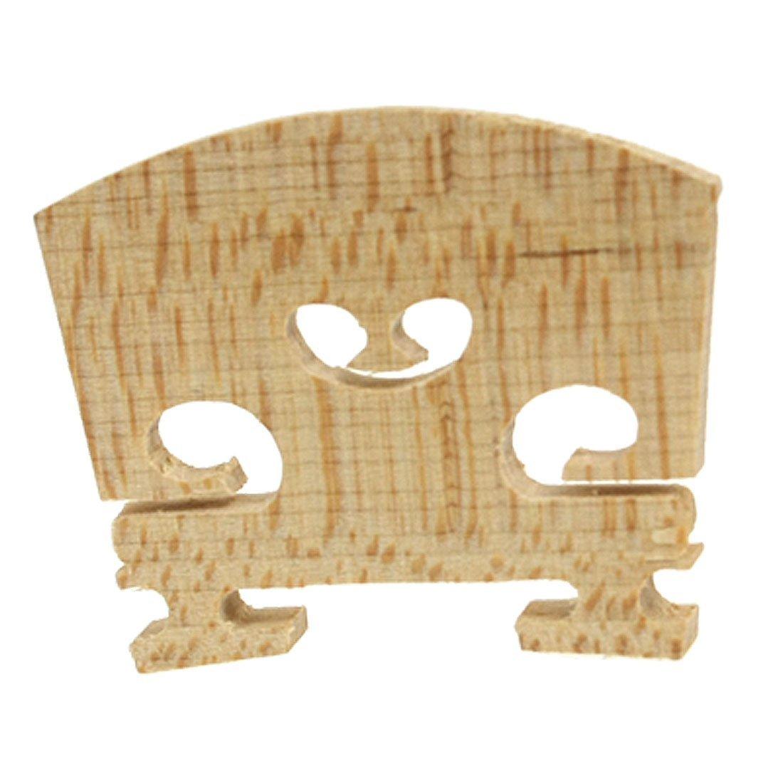 SODIAL(R) Replacement 1/4 Size Violin Parts String Centre Wooden Bridge