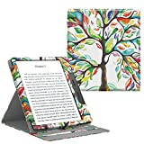 TiMOVO All-New Kindle Oasis Case (9th Generation, 2017 Release) - Vertical Multi-Viewing PU Leather Cover with Auto Wake/Sleep Function for Amazon 7'' Kindle Oasis E-reader, Lucky TREE