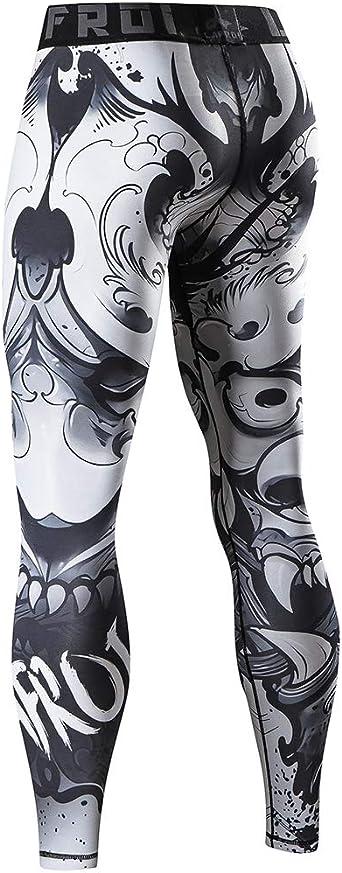 ad asciugatura rapida aderenti Leggings da uomo LAFROI YSK08 a compressione