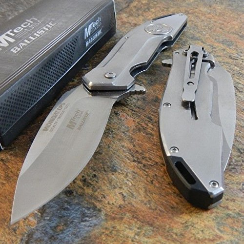 New MTECH Ballistic MIDNIGHT OPS SKULL Spring Assisted Opening Pocket Eco'Gift LIMITED EDITION Knife with Sharp Blade Great For Fun and Practical Use!