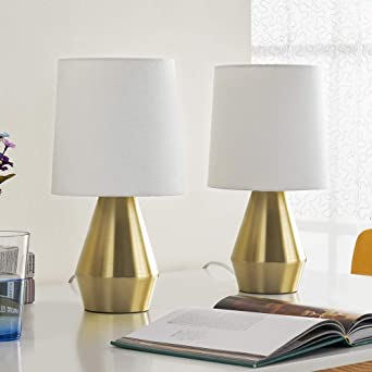 MAYA Set of 2 Touch Table Lamps Green