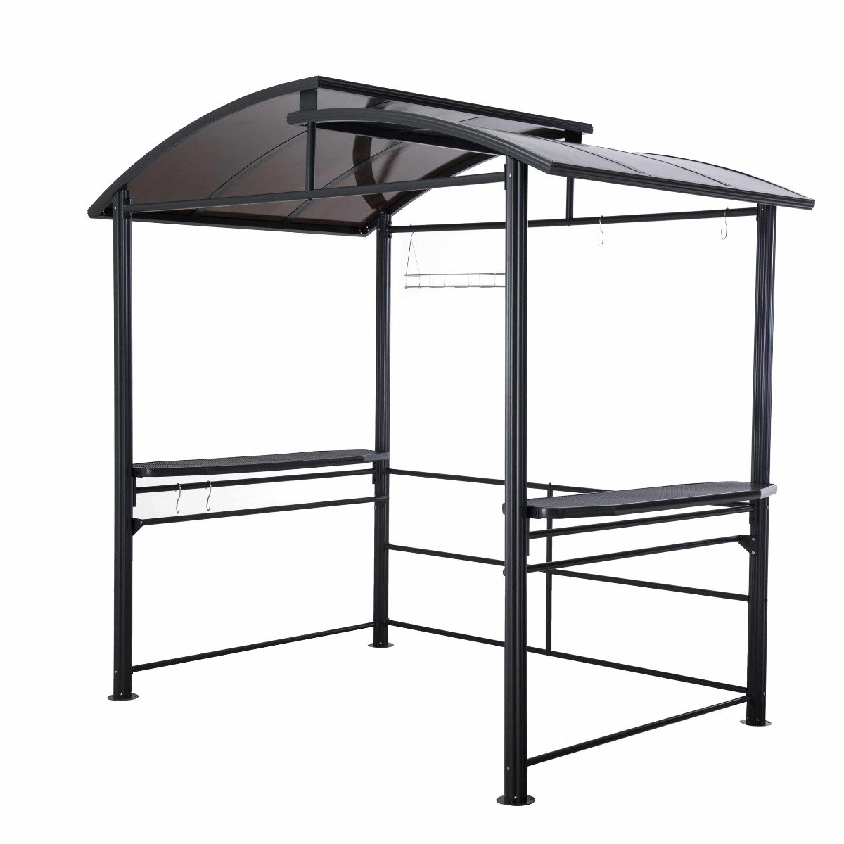 8 x 5 Denver Steel Hardtop Grill Gazebo with Polycarbonate Roof by sunjoy