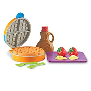 Learning Resources New Sprouts Waffle Time, Pretend Play Food Set, 14Piece Set, Ages 18 Mos+