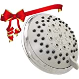 Vida Alegria 5-Inch Spashower 5+ High Pressure 2.5GPM Shower Head 5 Sprays + Water-Saver (Chrome)