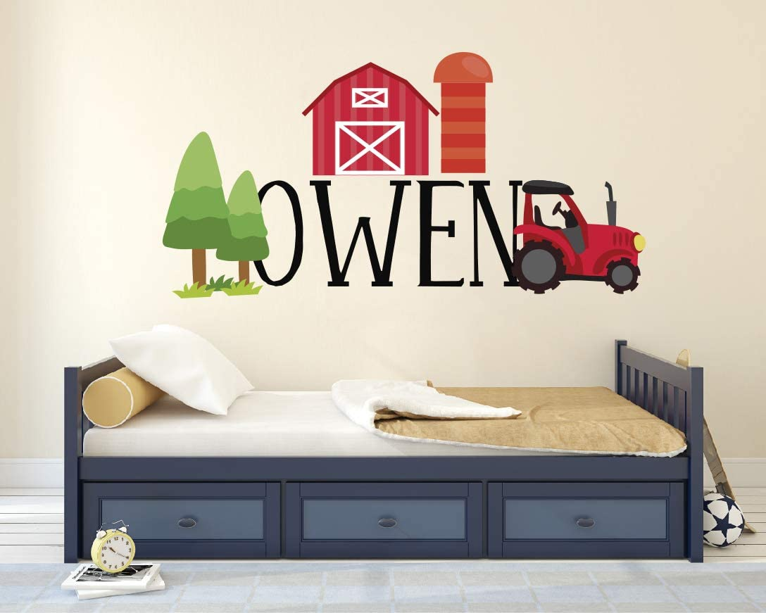 Nursery and Kid/'s Room Farm Wall Decals Set Of Tractors