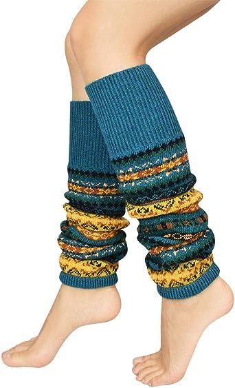 Women Bohemia Winter Warm Knitted Boot Cuffs Socks Toppers Leg Warmers Stockings