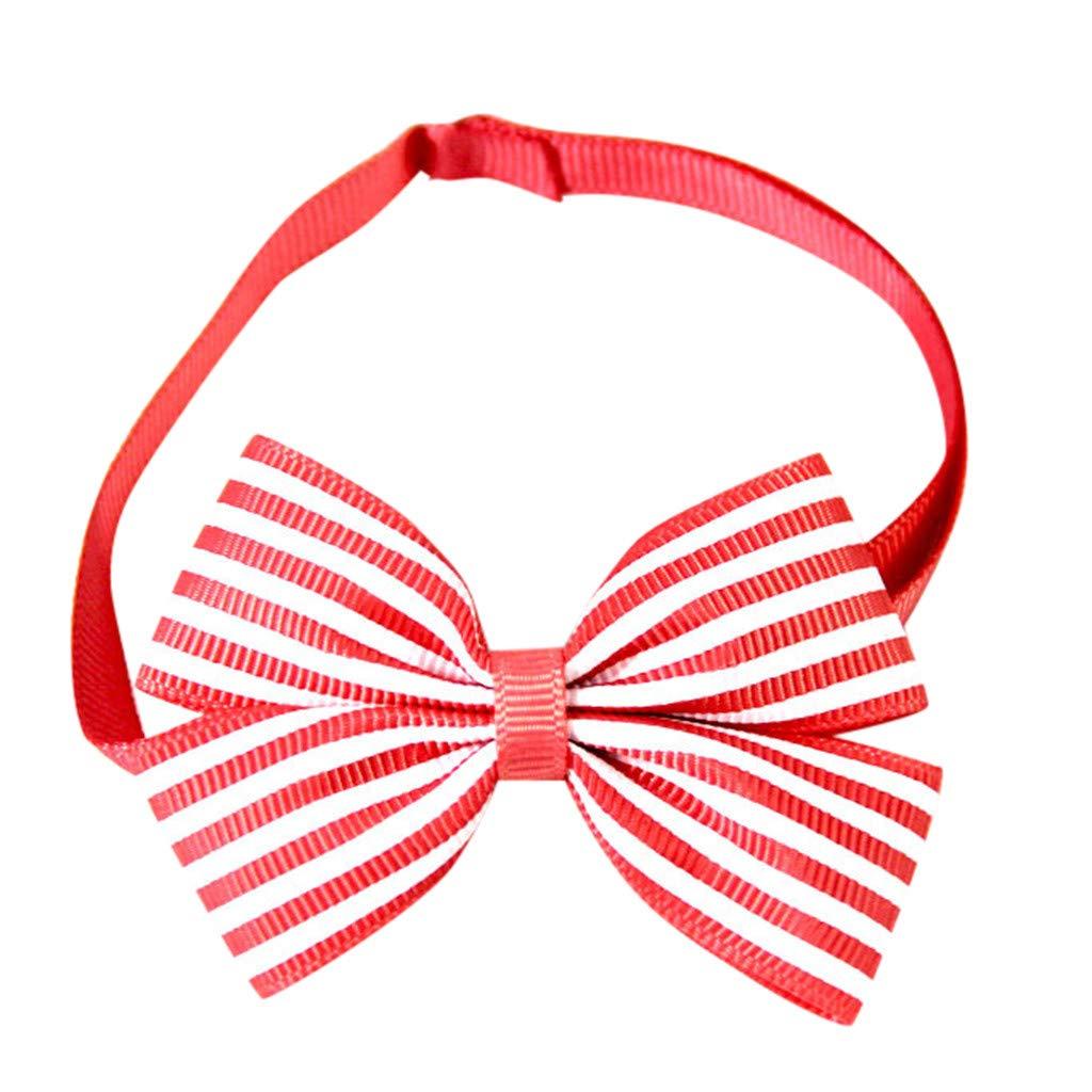 callm Pet Bow Tie, Pet Dog Puppy Cat Bowtie Adjustable Stripe Color Ribbon Dog Bow Tie Pet Supplies
