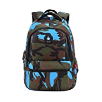 Comfysail Camouflage Printed Primary School Nylon Backpack - Ideal for 1-6 Grade School Students Boys Girls Daily Use and Outdoor Activities
