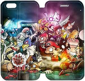 Cuero del tirón de la cubierta del Funda de la PU para el Funda iPhone 6 Caja del teléfono celular de 4,7 pulgadas Funda de cuero Mario Widescreen H7R9ES Funda iPhone de plástico duro