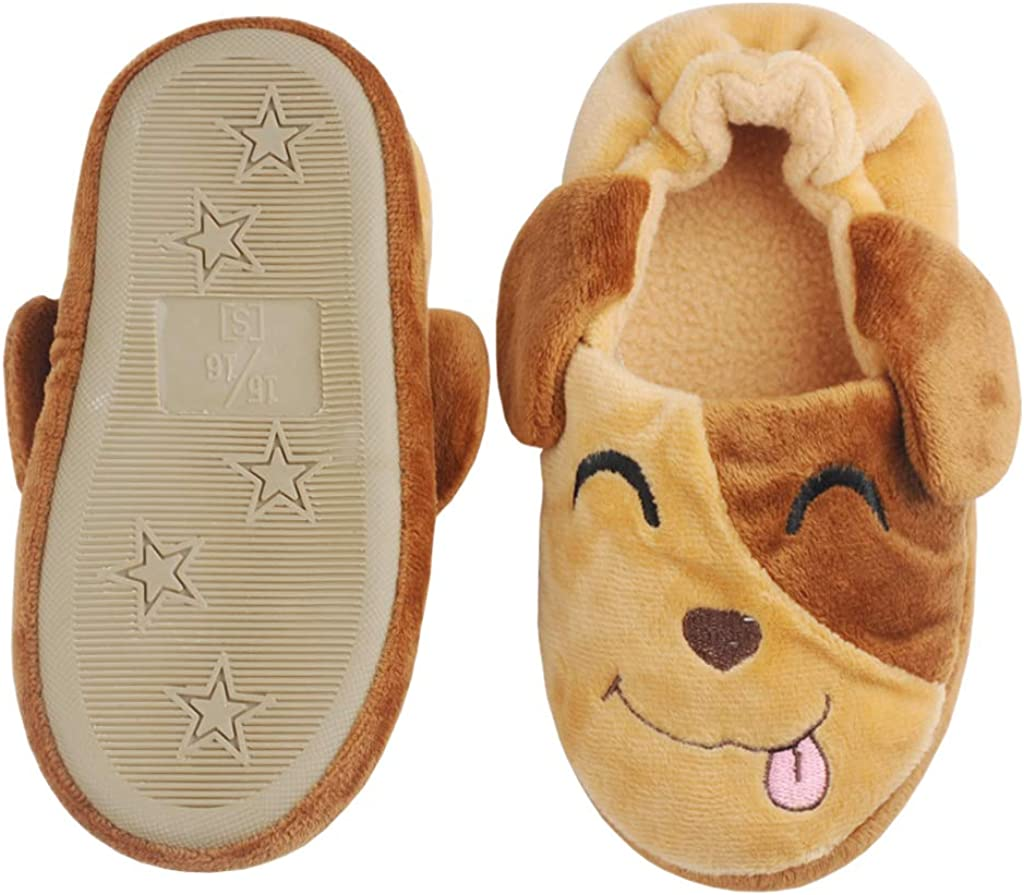 Annnowl Boys Slippers Winter Warm Shoes for Toddlers