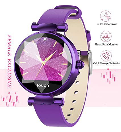 Smart Watch, Fitness Tracker with Heart Rate Monitor & Blood Pressure & Sleeping Monitor for Android & iOS, Waterproof Smartwatch with Step & Calorie ...