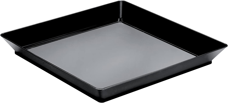 Klimer - Set de 12 Platos cuadrados desechables 13 x 13 cm. 130 ml.: Amazon.es: Hogar