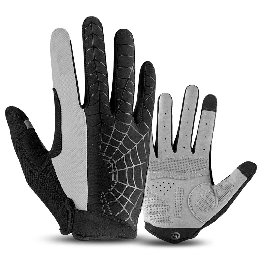 YZFGY Riding Gloves All Refers to The Sunscreen Outdoor Sports Touch Screen Climbing Bike Gloves Long Finger Men and Women Spring and Summer Sport Gloves (Color : Black) by YZFGY