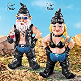 APC Goods Hand Painted Garden Gnome Biker, Each Sold Separately (Born To Ride Biker Dude)