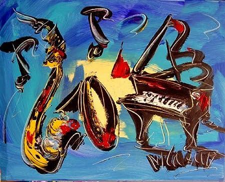 Jazz Band Contemporary Fine Art Modern Abstract Wall Decor
