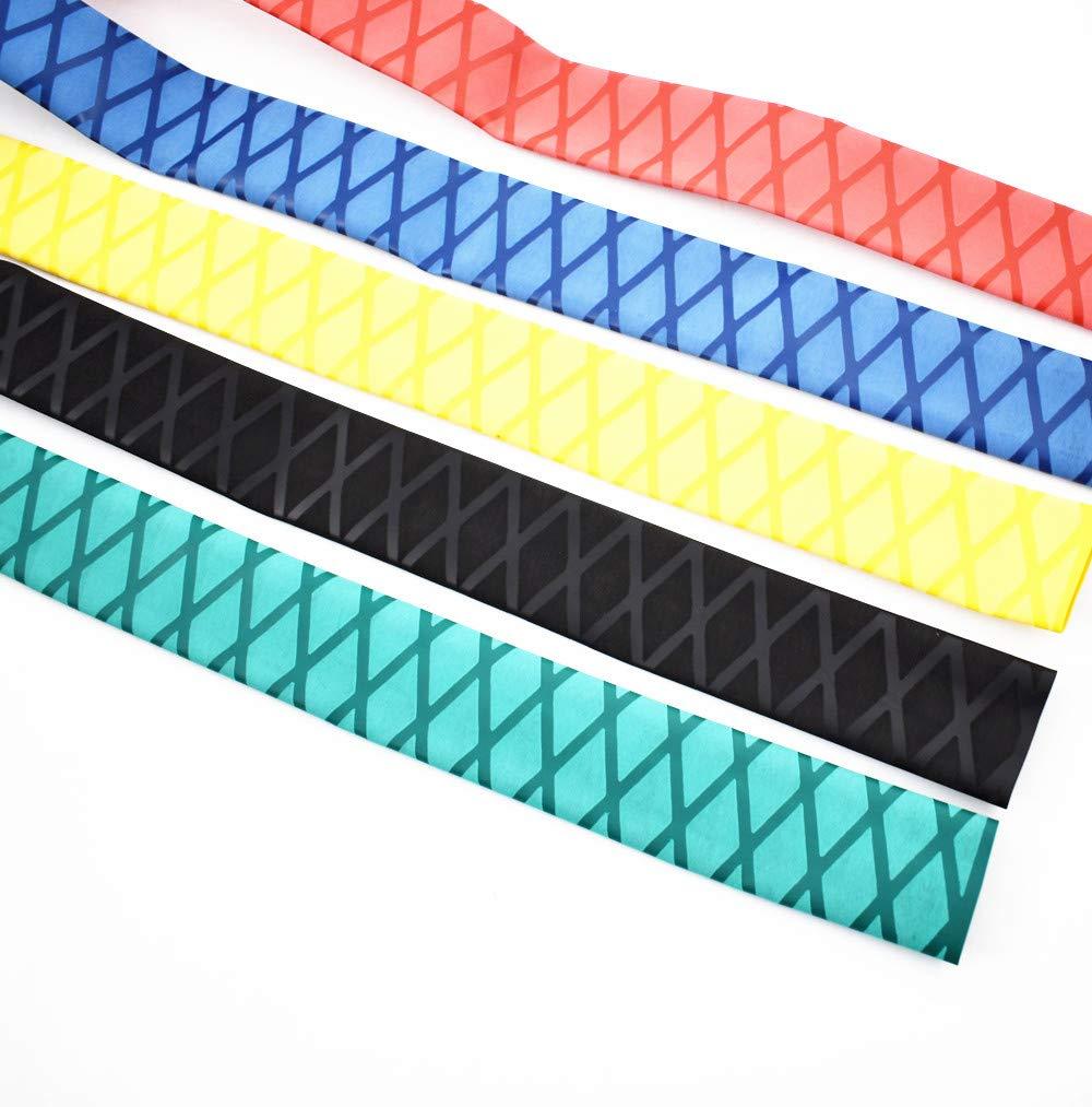 eTekGo X-Tube Heat Shrink Wrap Tubing 39''&64'' Lengths for Rod Grips-5 Color 14 Sizes (Red, Diamter:40mm; Length:39'')