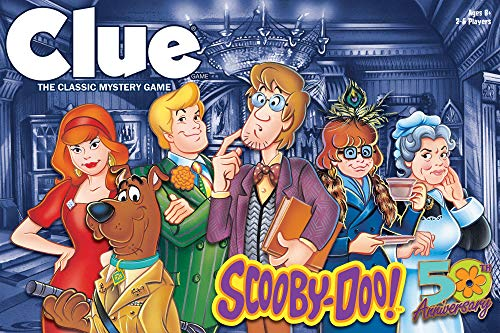 CLUE: Scooby-Doo Board Game   Official Scooby-Doo Merchandise Based on The Popular Scooby-Doo Cartoon   Classic Clue Game Featuring Scooby-Doo Characters   Gather The Gang and Solve The Mystery!