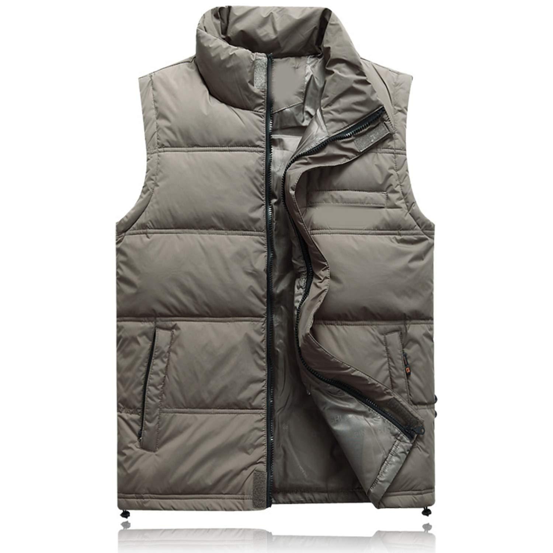 Winter Duck Down Vest for Men Parka Thick Warm Varsity Red Windbreaker Sleeveless Jacket Male Classic Casual Travel Waistcoat