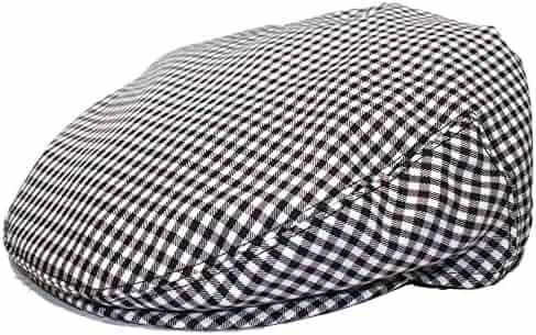 6563d763630dc Mens Plaid Golfing Beret Summer Flat Ivy Ascot Cabbie Cap Hat Ivy Newsboy